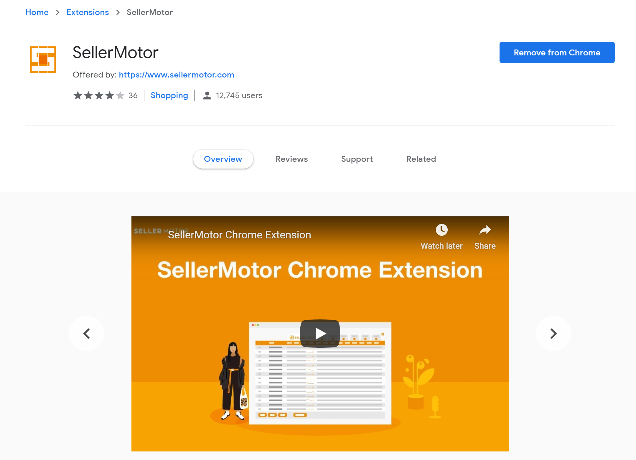 SellerMotor Amazon Chrome Extension.png